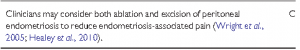 Surgery of cystic ovarian endometriosis